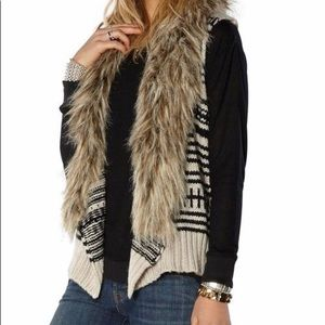 BB Dakota Jase Faux Fur Vest